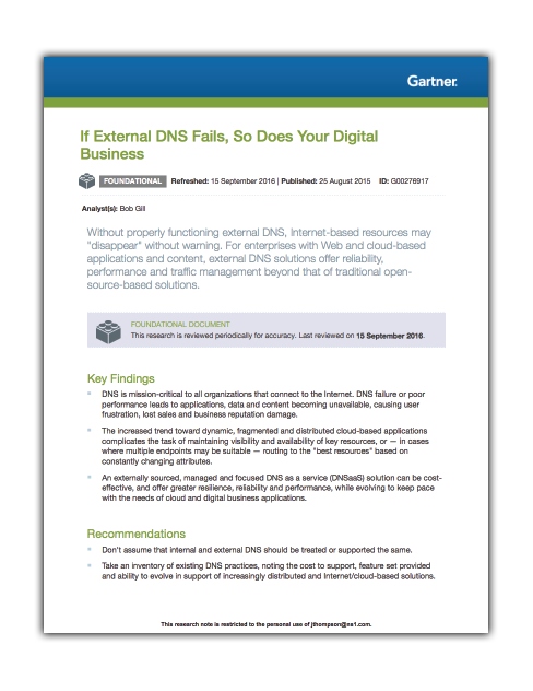 If External DNS Fails, So Does Your Digital Business